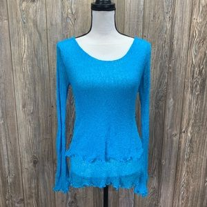 Blue stretchy blouse